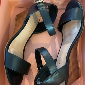 New in box Kelly & Katie size 7 black mini wedges